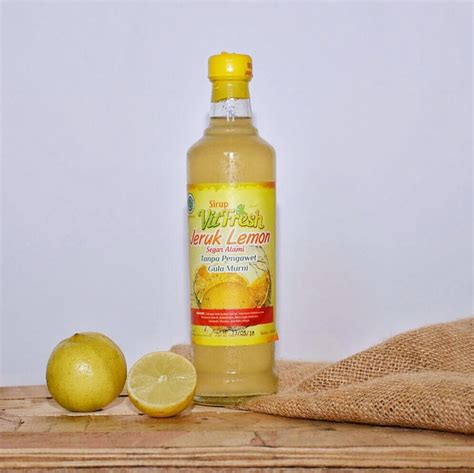Sari Lemon sirup jeruk lemon vitfresh sari lemon sirup jeruk