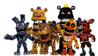 Archivo nightmare animatronics png wikia fnaf world wikia espa 241 ol