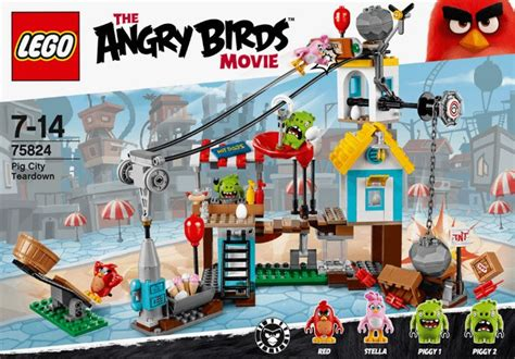 Legobrick Ang Bird The 1 lego angry birds pig city teardown set review pictures lego 75824