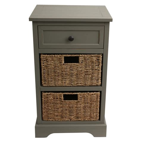 gray desk with drawers decor therapy urban farmhouse antique gray 3 basket