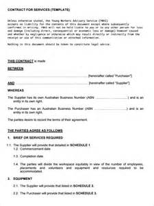 Free Service Agreement Contract Template by Service Contract Template 8 Free Word Pdf Documents