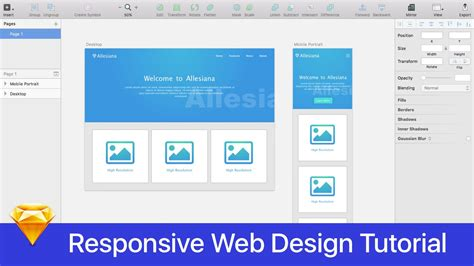 Responsive Website Tutorial Youtube | sketch 3 tutorial responsive web design part final