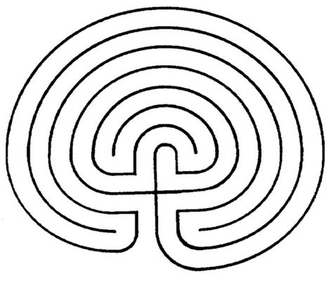 printable labyrinth maze printable finger labyrinth classical 7 path labyrinth