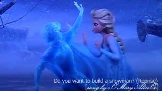 what do you need to build a house do you want to build a snowman reprise fancover by