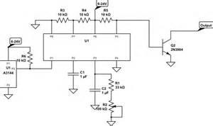 transistors minimal hall effect sensor circuit to keep