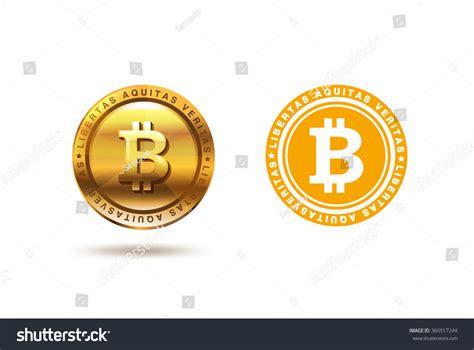 coin design template gold bitcoin coin logo design vector stock vector