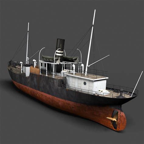 old boat models old steam ship 3d model adventure pinterest ship