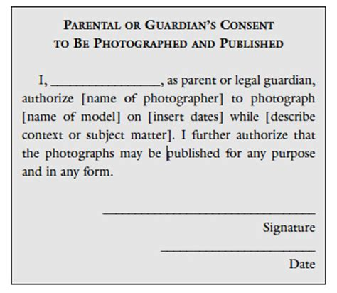 Parent Consent Letter For Photography The Of Permission In Photography Educational Articles And Book Excerpts On Photography Topics