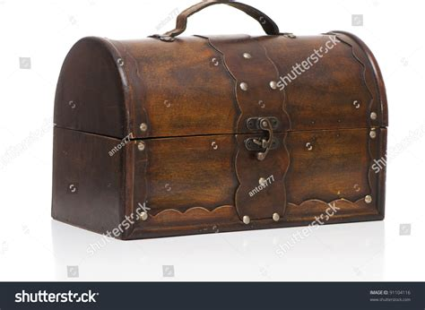 Vintage Wood Retro Book Safety Secret Box Storage box on white background stock photo 91104116