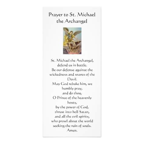 printable postcard sts saint michael prayer card printable bing images