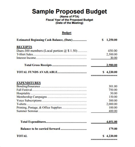 best photos of budget proposal template word sle