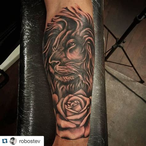 rose and lion tattoo 31 best chest tattoos images on