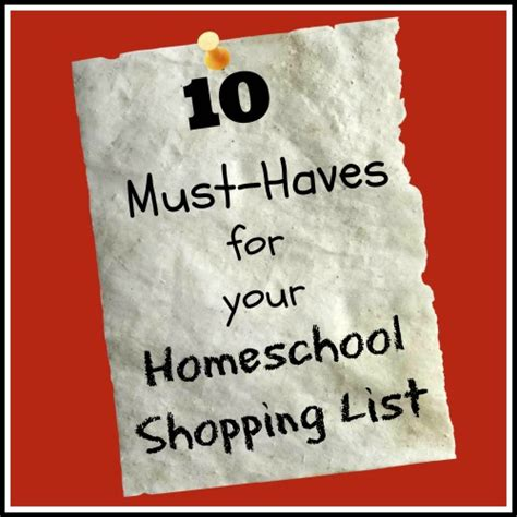 Must Haves For 2007 Your Shopping List by 10 Must Haves For Your Homeschool Apron Strings Other