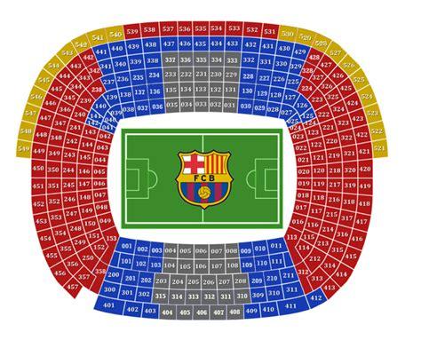 c nou stadium seat map c nou stadium tour tickets c nou museum tickets