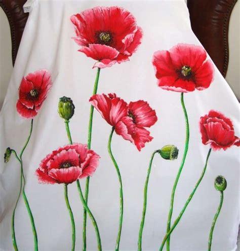 fiori dipinti su stoffa pittura su stoffa foto 10 34 tempo libero pourfemme