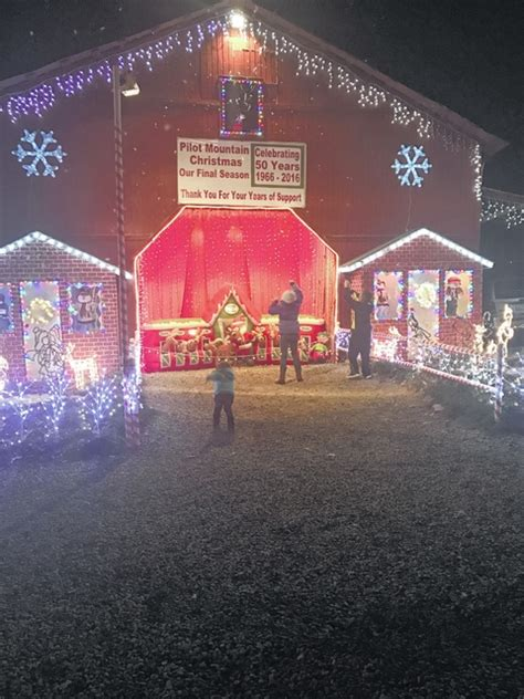 pilot mountain news pilot christmas lights coming to a end