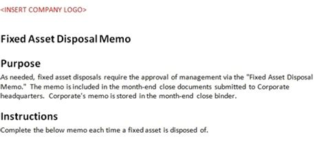 fixed asset disposal form accounting template