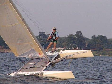 catamaran flying a hull taipan 4 9 f16 catamaran