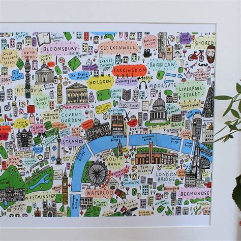 printable map central london central london illustrated map print by house of cally
