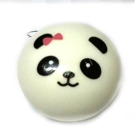Squishy Dimsum 10cm jumbo panda dim sum steamed bun pink bow