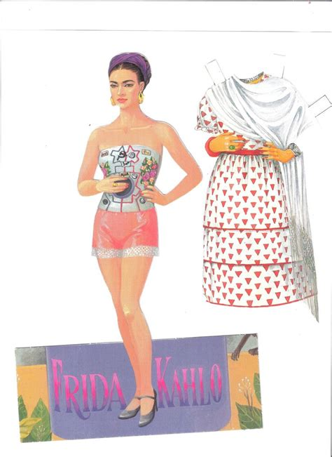 frida kahlo paper dolls by francisco estebanez http www com halinakaminski dolls 4