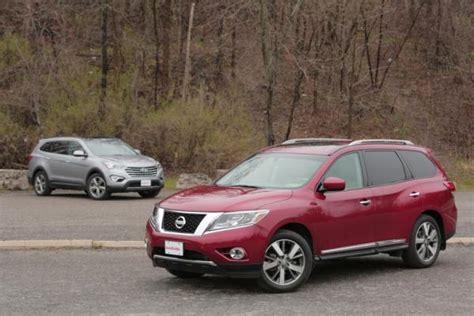 nissan santa fe 2013 nissan pathfinder vs 2013 hyundai santa fe car reviews