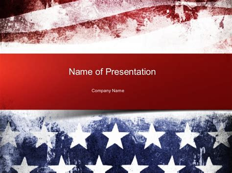 american flag powerpoint template painted american flag powerpoint template