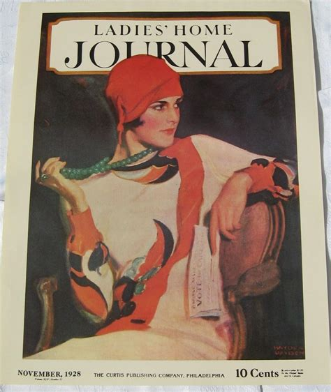 home journal vintage cover print november 1928 ad