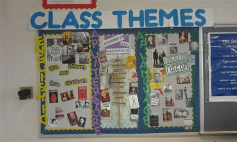 literature themes for high school bulletin board ideas for middle school english classroom