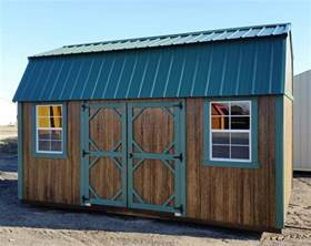 Shed Roof Trim by Grandview Buildings 10x16 Side Lofted Barn Green Metal