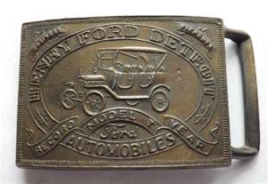 Ford Belt Buckles Vintage Henry Ford Detroit Automobiles Belt Buckle This