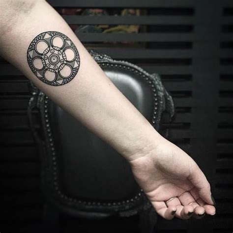 film reel tattoo reel arm forearm kristi walls