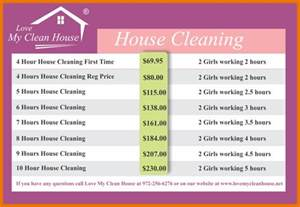 home cleaning prices 7 house cleaning list itinerary template sle