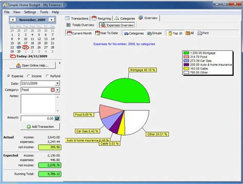 simple home budget personal finance software 15