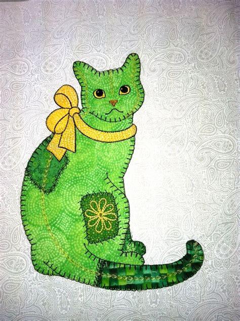 Applique Patchwork Designs - 25 best ideas about cat applique on cat