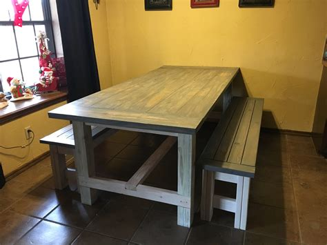 ana white farmhouse bench ana white farmhouse table and benches diy projects