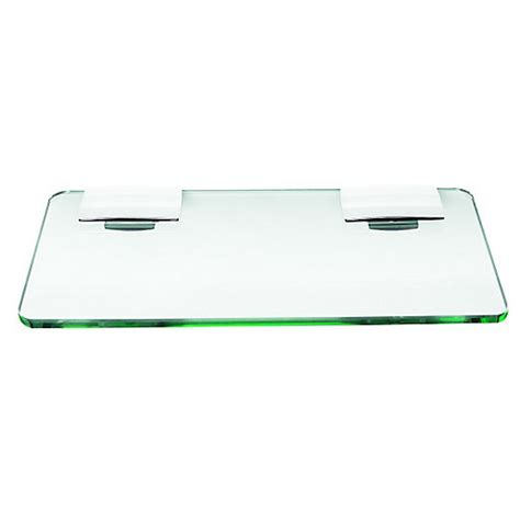 Bathroom Glass Shelves 300mm Wickes Rectangular Glass Shelf Chrome 300mm Wickes Co Uk