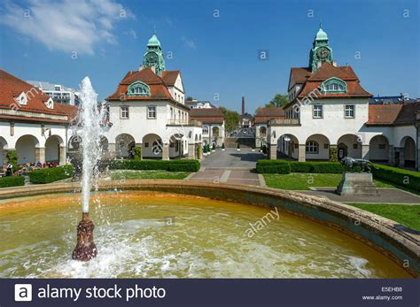 houses to buy in bath bath houses and quot gro 223 er sprudel quot fountain sprudelhof courtyard spa stock photo