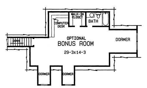 4 bedroom floor plans with bonus room the cole 4375 4 bedrooms and 3 baths the house designers