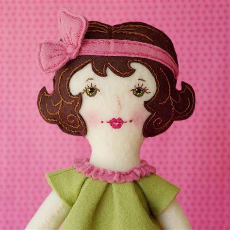 doll felt grace pdf pattern wool felt doll on luulla