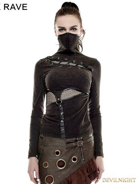 steampunk mask style  shirt  women devilnightcouk