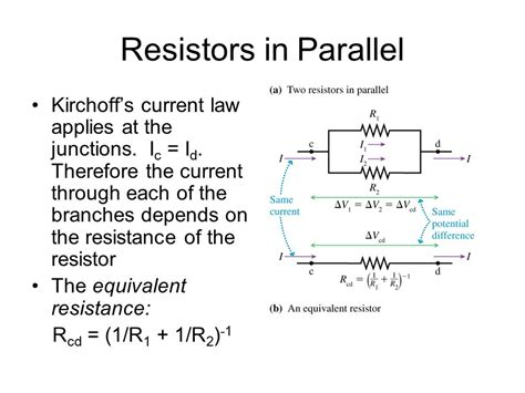 resistors in parallel increase voltage reading quiz chapter 31 name or describe kirchhoff s laws ppt
