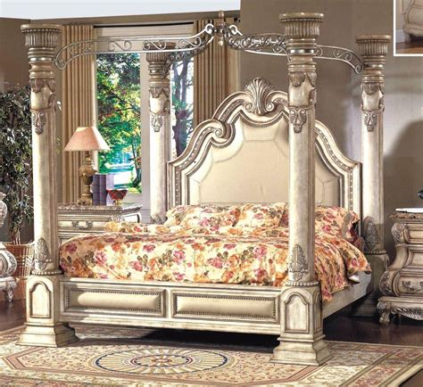 mcferran  monaco luxury white finish queen size bedroom set  pcs ebay