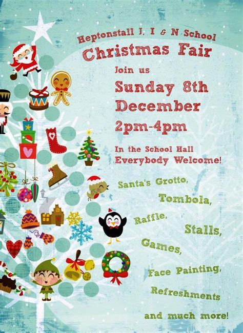 poster template for christmas tree heptonstall school fair heptonstall parish website