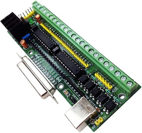 parallel port test parallel port breakout board with buffer for cnc routers