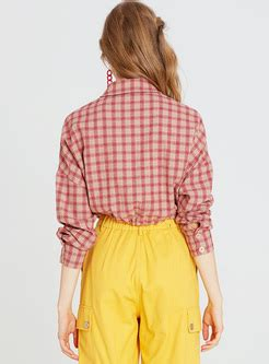 Classic Grid Blouse 27835 tops for high quality shop free shipping ezpopsy