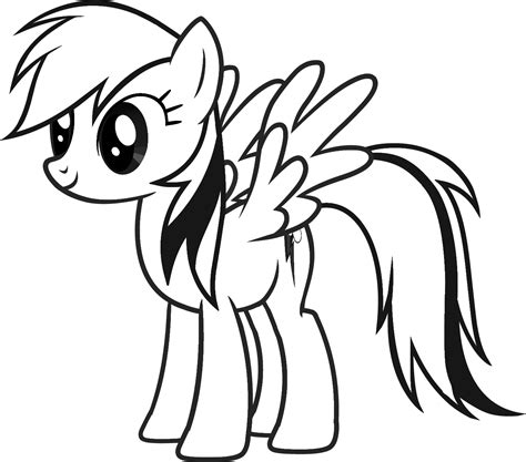 coloring page rainbow dash sew fantastic rainbow dash