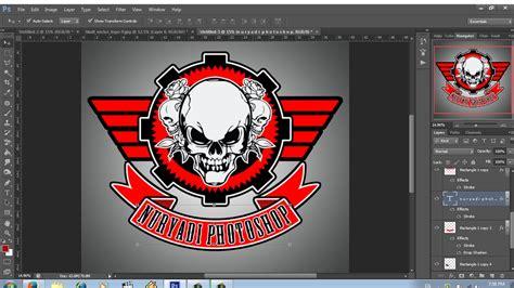 tutorial membuat logo komunitas cara mudah membuat logo komunitas club motor youtube