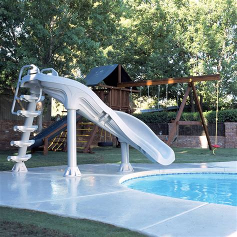 water slides for backyard pools interfab x stream extreme 2 inground swimming pool water