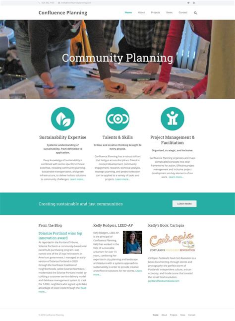 business web design homepage confluence planning website